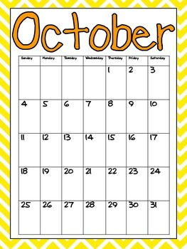 FREE Printable Calendar 2017-2018 by Jane Williams | TpT