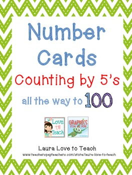 FREE Printable Cards Counting By 5