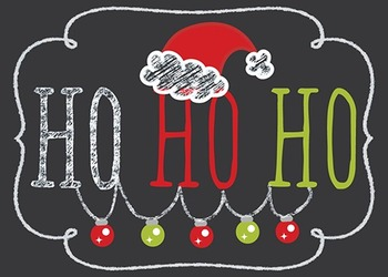 FREE Printable Chalkboard Christmas Tag Labels