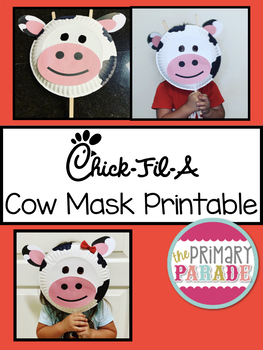 picture relating to Chickfila Application Printable named Cost-free Printable Chick-Fil-A Cow Working day Mask as a result of The Basic