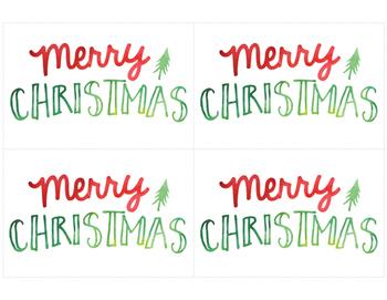 FREE Printable Christmas and Holiday Cards!