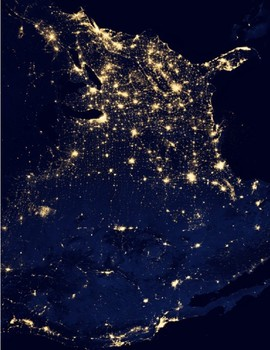 Map Of Usa At Night.U S History Rosa Parks Apollo 11 Usa Night Map White House