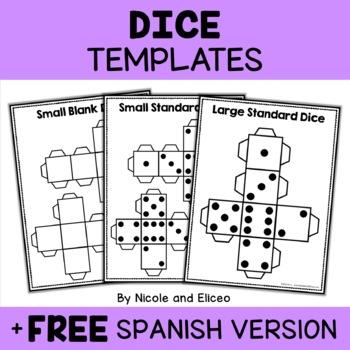 Math Centers - Printable Dice Templates