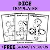 Math Centers - Printable Dice Templates