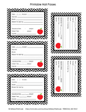 FREE Printable Hall Passes
