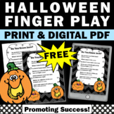 FREE Halloween Reading Activity Finger Play