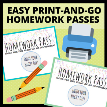 image relating to Free Printable Homework Pass titled No cost Printable, Coloured Research Pes via Kristas Cl TpT