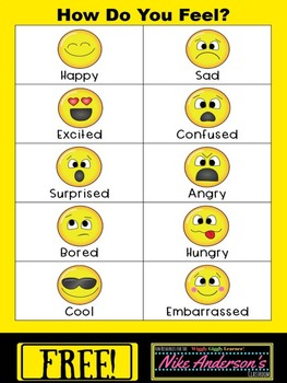 "FREE Printable ""How Do You Feel?"" Emotions Chart"
