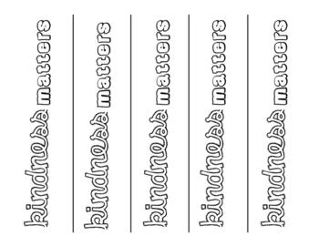 FREE Printable Kindness Bookmarks