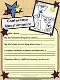 FREE  Printable Parent Teacher Conference Questionnaire Form