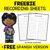 FREE Printable Recording Sheets for Google Classroom Resources