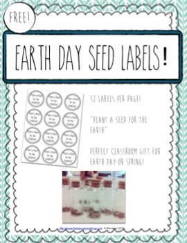 FREE Printable Seed Labels for Earth Day!