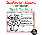 FREE Printable Teacher Thank You Notes for Christmas Gifts