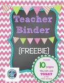 **FREE** Printable Teacher's Binder ~ chalkboard style