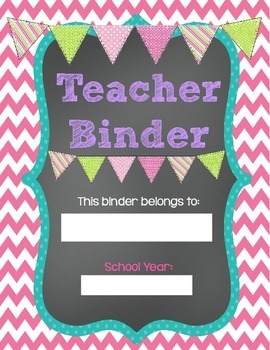 **FREE** Printable Teacher's Binder ~ chalkboard style by ...