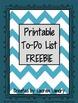 FREE Printable To Do List
