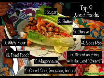 """FREE Printable """"Top 9 Worst Foods"""" Poster 