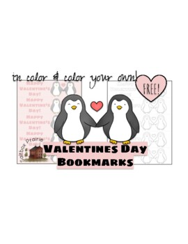 FREE Printable Valentines Day Bookmarks Reading