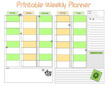 FREE - Printable Weekly Planner
