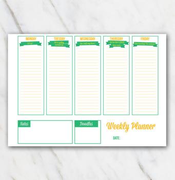FREE Printable Weekly Planner - Arriba