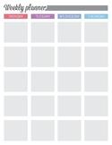 FREE Printable Weekly Planner - Bogart