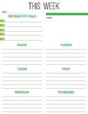 FREE Printable Weekly Planner - Kiwi