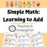 FREE Printable Worksheets for Preschool, Pre-K, Kindergarten - Simple Math - Add