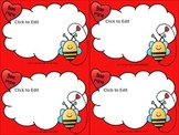 FREE Printable and Editable Valentine Cards for Students or Homeschooler