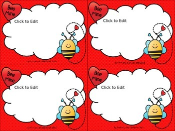 FREE Printable and Editable Valentine Cards for Students o