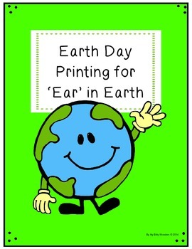 FREE Printing Printables for Earth Day - 'ear' in 'earth'