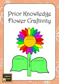 FREE Prior Knowledge Flower Craftivity
