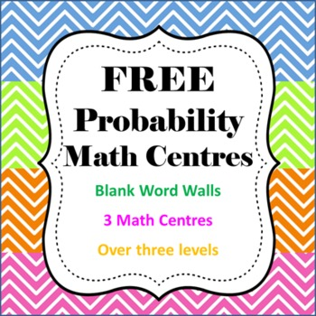 FREE Probability Math Centres/Centers