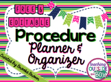 FREE Procedure Planner & Organizer {EDITABLE!}