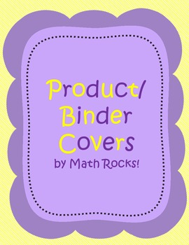 FREE Product Cover Pages (Binder Cover Pages)