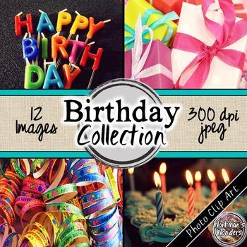 Photo Clip Art (12 Images/4 Sizes) - Birthday