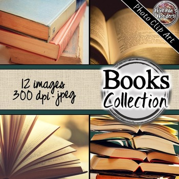 Photo Clip Art (12 Images/4 Sizes) - Books