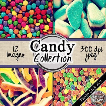 Photo Clip Art (12 Images/4 Sizes) - Candy