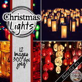 Christmas Digital Paper - Christmas Lights