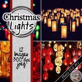 Christmas Digital Paper - Christmas Lights
