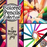Colored Pencils Digital Paper