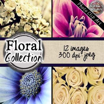 Photo Clip Art (12 Images/4 Sizes) - Floral