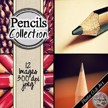 Photo Clip Art (12 Images/4 Sizes) - Pencils