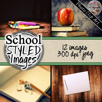 Photo Clip Art (12 images/3 sizes) - School Styled Images