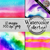 Photo Clip Art (12 Images/4 Sizes) - Watercolor