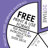 FREE Project-Based Learning Materials for the English Classroom • 20Time Project