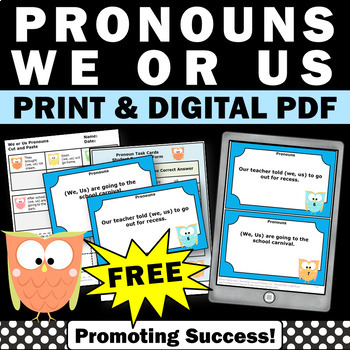 free pronouns games and activities