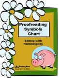 FREE Proofreading Symbols Chart: Editing with Hammingway