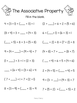 FREE Properties of Addition Worksheet