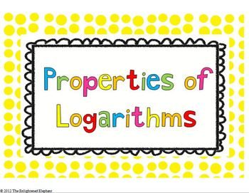 FREE Properties of Logarithms Posters
