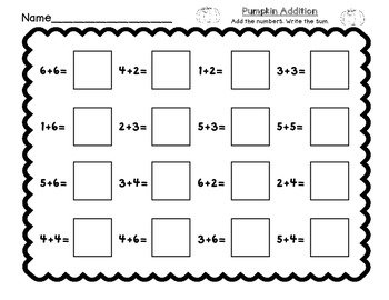 FREE! Pumpkin Bump: Math Center, Game, and Printable